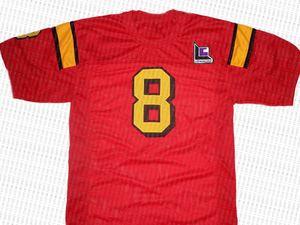 Clark Kent por mayor # 8 Superman Smallville Película nuevo fútbol jersey rojo cosido cualquier nombre personalizado número HOMBRES MUJERES JÓVENES fútbol del jersey