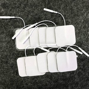 5x5cm high quality Nerve Stimulator Silicone Gel Electrode Pads Tens Electrodes Digital Therapy Machine Massage 2mm Plug