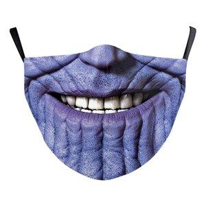 Batman Spiderman capitano americano faccia design super-eroe per adulti di lusso mascherina mascherine partito Cosplay riutilizzabile Dust Shield Cotone Mask salto