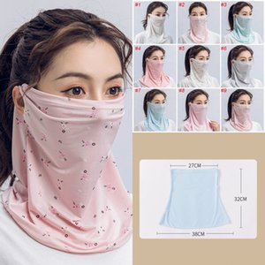 24H, DHL SHIPPING, Women Scarf Face Mask Silk Chiffon Handkerchief Outdoor Windproof Half Face Dust-proof Sunshade Masks FY6130