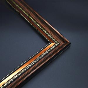 Kahverengi Sahte-Wood-Frame Elmas Boyama Tuval Sanat Quadros-De-Parede Duvar Dekoru DIY Fotoğraf Çerçevesi Resim Boyama