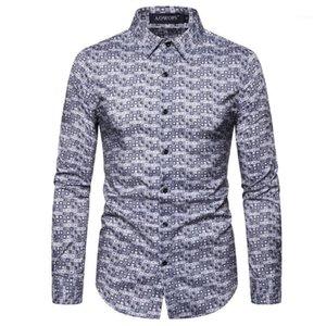 소매 남자의 셔츠 디자이너 캐주얼 남성 의류 3D 디지털 방식으로 인쇄 Mens 디자이너 셔츠 패션 슬림 폴카 도트 프린트