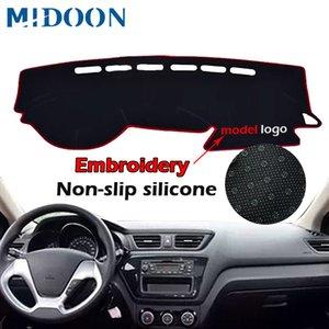 Car Anti-dirty Pad Car Dashboard Cover For Russia Kia Rio 3 2012 2013 2014 2015 2016 2017 Dash Mat DashMat Silicone Non-Slip