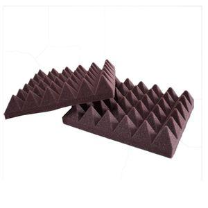"""Absorção acústica espuma Som Tratamentos Pyramid acústicos Estúdio de Gravação Painéis de parede decorativa, 2"""" x 12"""" x 12"""""""