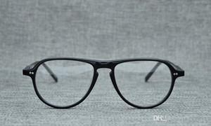 Los más nuevos lentes ligeros de montura puente de montura piloto ligeros para gafas graduadas 52-18-145 estuche de montura completa de montura de tablero puro