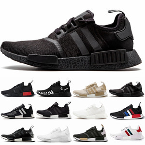 NMD R1 Runner atmos Bred Running Shoes Nbhd Primeknit Tri-Color OG Classic Men Women Japan Triple Black white Thunder nmds Sports Sneakers