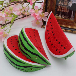 Watermelon Squishy Kawaii 14.5cm Jumbo Dekoration Super-Slow-Rising Toy Squeeze weiche Stretch Scented Brot Kuchen Obst Spaß-Kind-Spielwaren-Geschenk