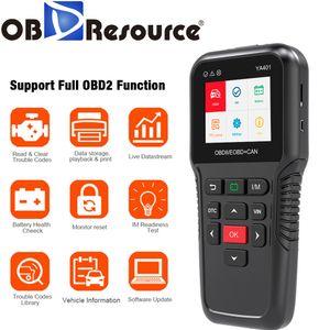 Car Diagnosis YA401 OBD2 Code Reader Scanner Automotive OBD 2 Scan Tool OBDII Auto Tester Upgrade Online PK KW850 X431 CR5001