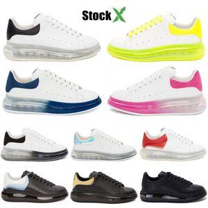 Erkekler Kadınlar Günlük Ayakkabılar Siyah Altın Üçlü Beyaz Crystle Sole Yastık Kadife Eğitmenler Gerçek Deri Spor ayakkabılar