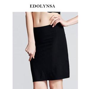 Mulheres Half deslizamento Midi soltas Fit underskirt deslizamento Verão solto cintura elástica roupas íntimas femininas Lingerie Black White # K21