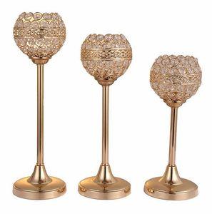 Candelabros de cristal para velas Cuencos Centros de mesa Candelabros de metal para el hogar Comedor Centros de mesa Fiesta Decoración de vacaciones