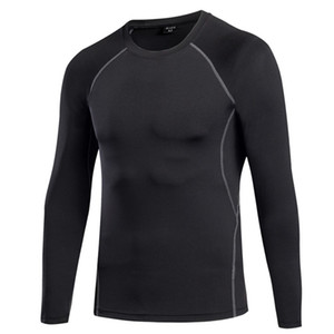 2019 Herbst T-Shirt für Herren, Ultra-Niedriger Preis Langarm Herren T-Shirt, Herren Rundhalsausschnitt Pure Color T-Shirt Größe S - XXL