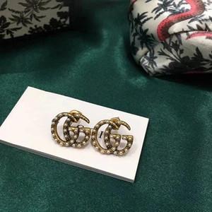 2020 di vendita calda nuovo classico retrò alfabeto perla orecchini temperamento moda orecchini delicati consegna veloce
