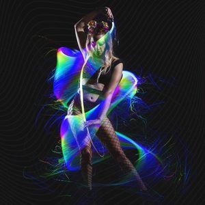 Chicote PROGRAMÁVEL Fibra Óptica LED 70inch 360 ° Swivel - Super Bright Light Up Rave Toy EDM Pixel Fluxo Festival de Dança Lace