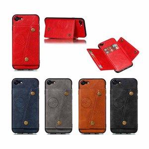 Cas de téléphone portable pour iPhone 7 8 10 11 xR xs Max PU en cuir PU Portefeuille de portefeuille de portefeuille Couvercle SAM. A90 5G S10