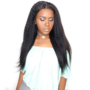 Human Hair Lace Wigs with Baby Hair Full Lace Kinky Straight Wigs Unprocessed Cambodian Glueless Lace Front Wig