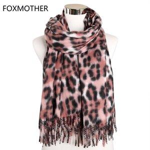 FOXMOTHER hiver écharpe de léopard de femmes Châle Cachemire imprimé animal longue écharpe Wrap Echarpes Accesorios Mujer Silencieux Femme 2019