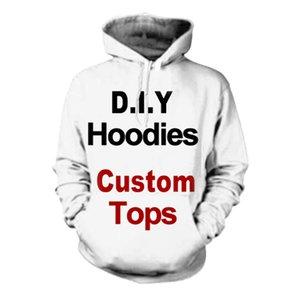 3D Print Diy Custom Design Hommes Vêtements pour femmes Hip Hop Sweat à capuche Drop Shipping grossistes Fournisseurs Drop Shipper Y200704