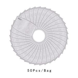 Respirable PM 2.5 Filtro de papel para la Lucha contra el polvo Haze la mascarilla del filtro de carbón activado contra la boca del polvo de la cubierta exterior Máscaras de trabajo unisex
