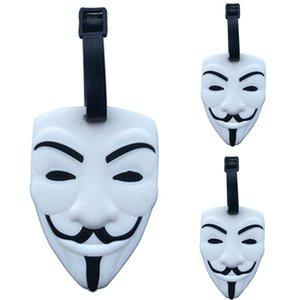 V-Vendetta Maske Bagaj Etiketi Bavul KIMLIK Adres Tutucu Bagaj KIMLIK Adı Etiketi Taşınabilir Etiket Seyahat Aksesuarları HHA747