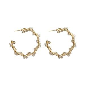 INS Fashion Rhinestone Women Earrings Trendy Exaggeration Pattern Lady Pendant Stud Night Club Personality Female Earring Jewelry