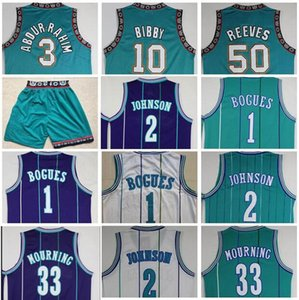 Shareef vendimia al por mayor BestQuality Mike Bibby Jersey barato Abdur Rahim Bryant Reeves Muggsy Bogues Larry Johnson Alonzo Mourning cosido