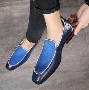 Estilo italiano Doug sapatos de camurça Loafers Pointed Toe Wedding Dress Shoes New Design Sapatas Designer Negócios