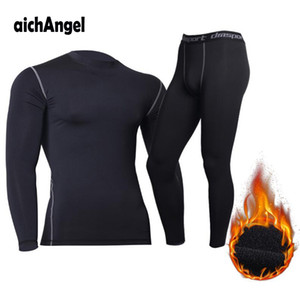 Men's tactical fleece thermal underwear sweat quick drying thermo underwear mens breathable elasticity Long Johns tops pants set