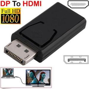1080P Display Port DP Erkek için HDMI Dişi Adaptör Siyah Yüksek Kaliteli Dp için HDMI Dönüştürücü için HDTV PC TOPTAN