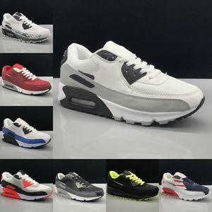 Alta Qualidade 2020 New Air Cushion 90 Running Shoes Men baratos Mulheres Preto Branco Bege Air90 Runner sapatilhas clássicas Air instrutor Sports Shoes