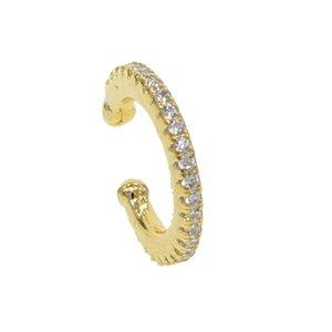 Нежный Ear Cuff микро проложить CZ круг манжеты 925 стерлингового серебра способ крошечного искрение простого Нет Пирсинг Серьга женских ювелирных изделий