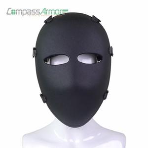 Toptan Ordu Balistik Tam Yüz Maskesi Taktik Savaş Maskesi Avcılık Koruyucu Maske Balistik Yüz Kapak NIJ seviye IIIA 3A