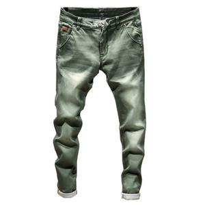 2019 Yeni Moda Butik Stretch Casual Erkek Jeans / Skinny Jeans Erkekler Düz Erkek Denim Jeans / Erkek Stretch Pantolon Pantolon C19041201