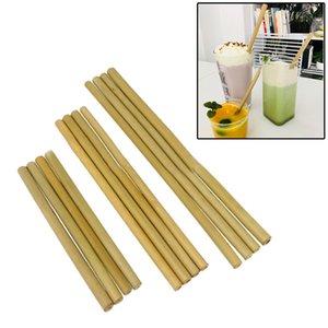 Натуральная бамбуковая солома 195/200/230 см Желто-зеленый Многоразовые соломки, биоразлагаемые Экологически чистые соломинки для напитков для свадебной вечеринки Бар Инструменты