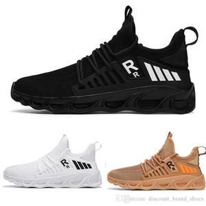 Envío de la gota TYPE4 Negro blanco del cordón marrón cordón MENS niño hombre de los zapatos corrientes bajas cojín Marca corte formadores fresco diseñador de zapatillas deportivas