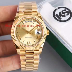 10 Стиль Лучшее качество KS завод часы 41мм 228349RBR 228238 228239 Day-Date 18K Gold CAL. 2836 Движение Автоматическая Мужские часы Наручные часы
