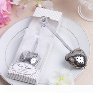 Heart-shaped tea leak Wedding gifts for guests Favors Souvenirs Boda strainers filter bags Infuser Kitchen accessories office
