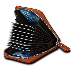 Genuine Cow Leather Credit Card Holder Case Bag Pouch Cash Wallet For Women Men