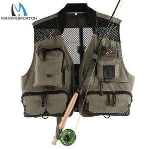 Maximumcatch Top-Qualität Breathable Männer Anglerjacke Außen Mesh / Multi-Taschen Super Light Fishing Jacke