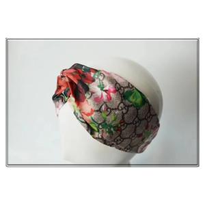 2019 G Style 100% Seide Kreuz Stirnband mit Italien-Tag Frauen-Mädchen-Marke elastische Haarbänder Retro Turban Headwraps Geschenke Blumen Humming bird