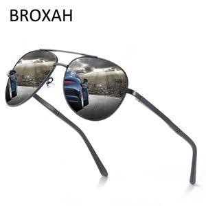 Retro occhiali da sole polarizzati Uomini 2020 guida Occhiali da sole pilota di marca per l'uomo magnesio alluminio Shades Telaio