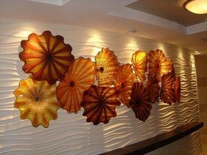 ديكور معرض الفندق Chihuly Murano Glass Wall Plates