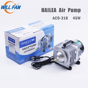 Will Fan Hailea Hava Pompası 45W ACO-318 Elektriksel Manyetik Hava Kompresörü İçin Lazer Kesme Makinesi 70L / dk Oksijen pompası Balık