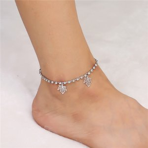 Europe and the United States summer trend hot selling diamond claw chain tassel anklet copper footwear wholesale