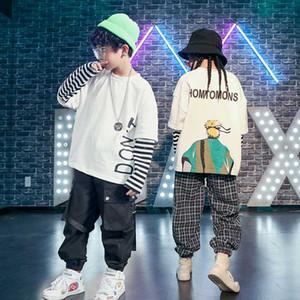 Los niños Hip Hop Street Wear Hip Hop Hermoso bragas de las muchachas de la danza del jazz ropa de la etapa del funcionamiento del juego Trajes Nueva Hiphop Boy 3229