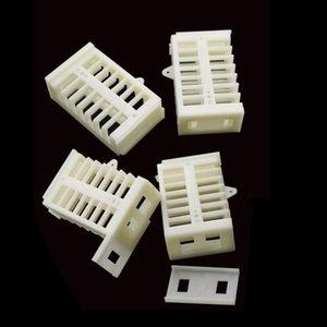 Beyaz Arı Kraliçe Kafes Kraliçe Arı İzolasyon Kutusu Plastik Profesyonel Taşıma Kraliçe Arı Cihaz Arıcılık Araçları 10 Adet
