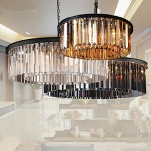 Manggic Yuvarlak Restoran Kristal Amerikan Tarzı Lambası için Işık Asma Kristal Avize Aydınlatma Lustres Armatürleri