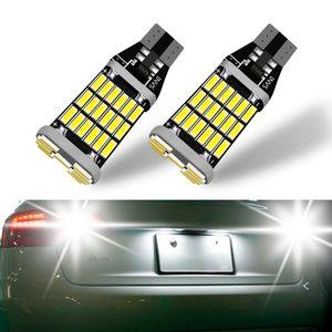 10PCS T15 W16W 45SMD LED في canbus خالية من الأخطاء سيارة عكس Lght لمبة السيارات تسليط الضوء على وقوف السيارات النسخ الاحتياطي استبدال لمبات مصباح