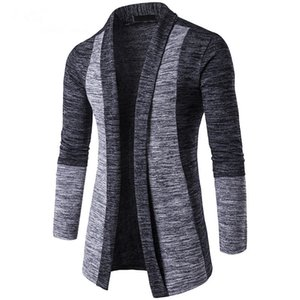 Spring Autumn Men Knit Jacket High Quality Long sleeve Hit Colors thin Sweaters coat Fashion mens patchwork Cardigan Knitwear