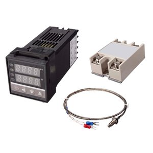 1x Intelligent Digital LED PID Temperatura Controlador de SSR Regulador Kits